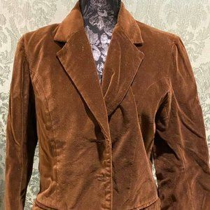 Brown Suede-like Women's Blazer/Jacket, 13/14